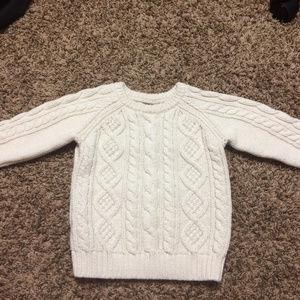 Cotton/Lamb's Wool Toddler Sweater